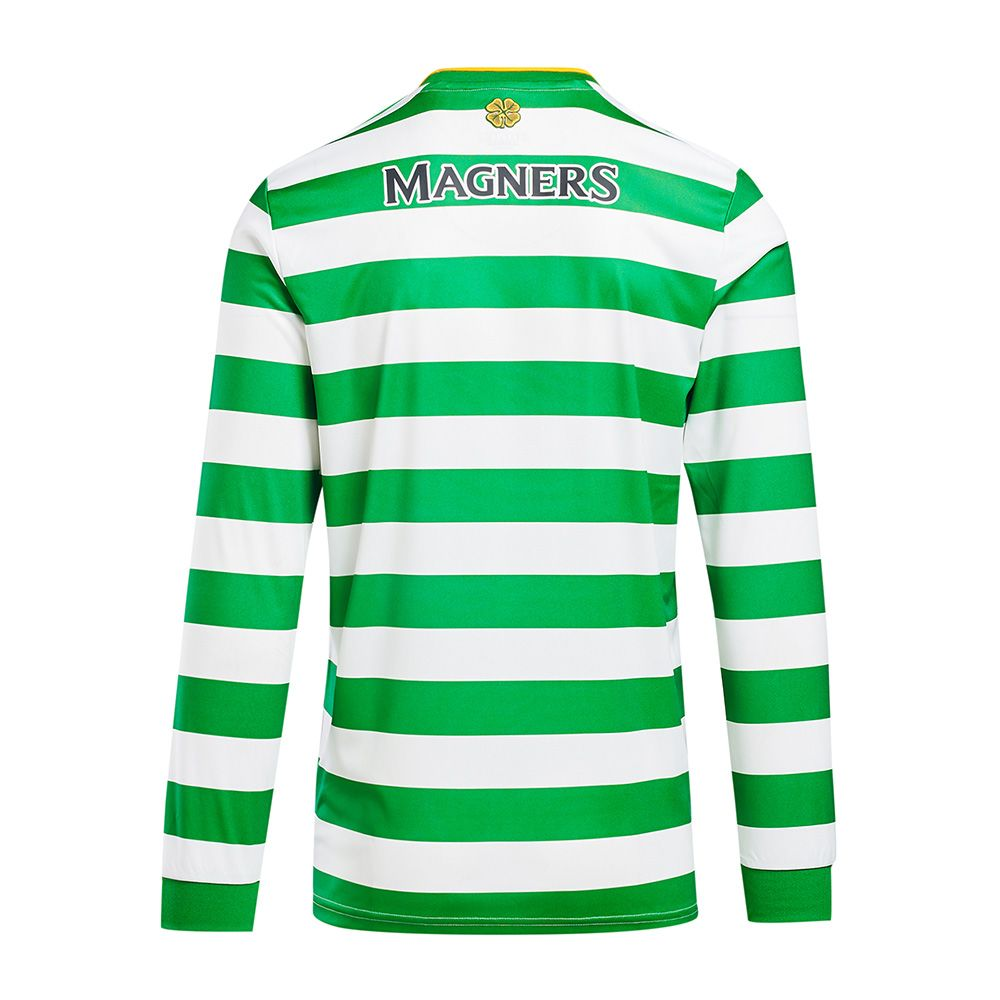 Celtic Mens 20/21 Home Shirt with Long Sleeves Back