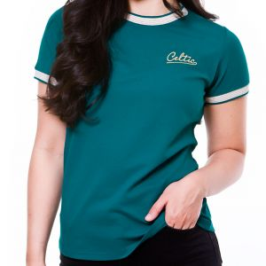 Celtic Womens Stripe Cuff and Neck T-shirt