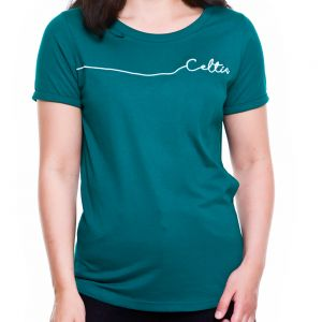 Celtic Womens White Script T-Shirt