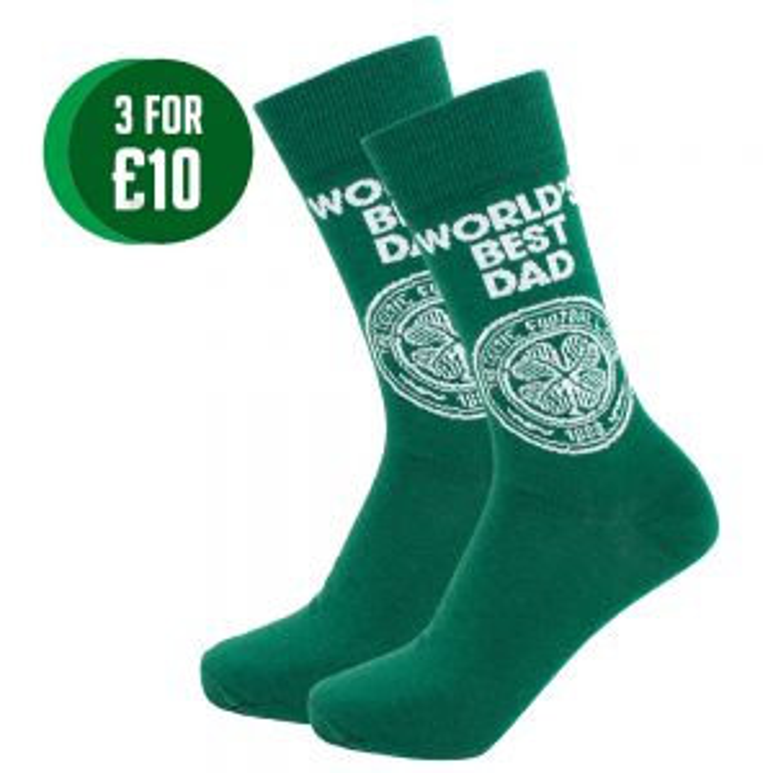 Celtic World's Best Dad Socks