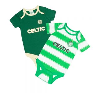 Celtic Baby 2021/22 Home and Away Kit 2 Pack Bodysuit