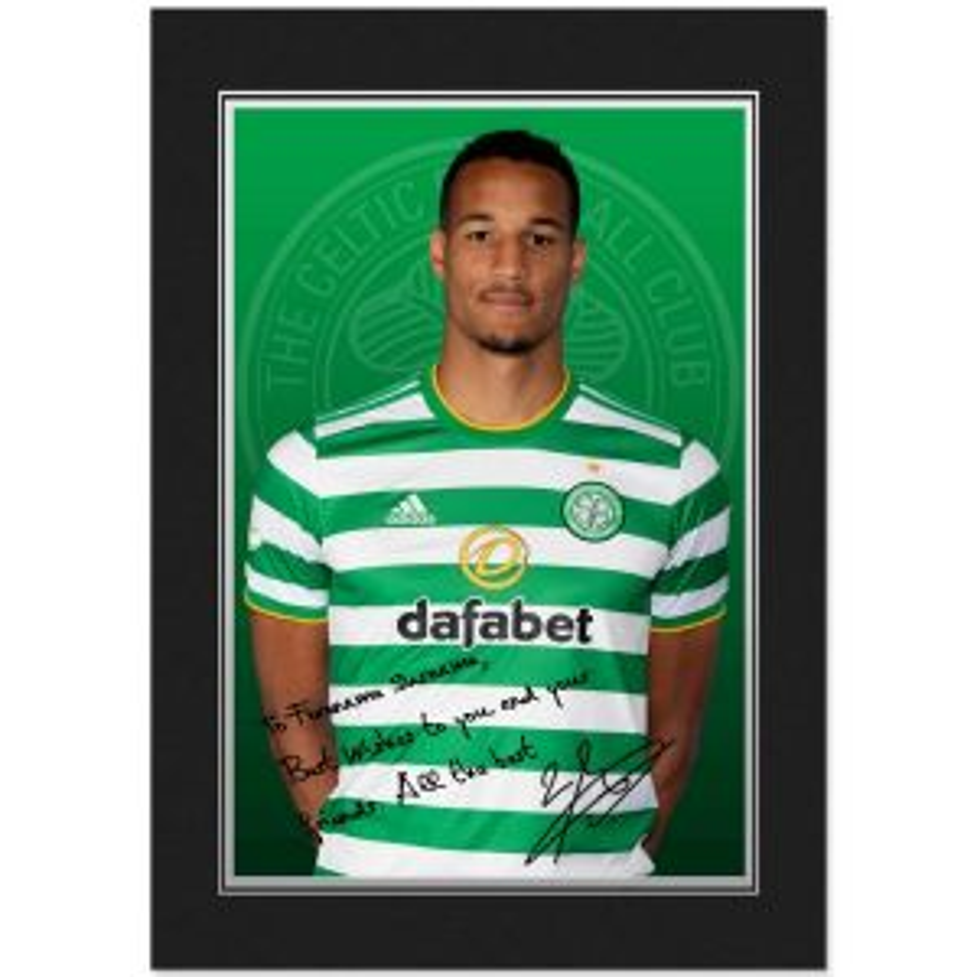 Celtic FC Jullien Autograph Photo Folder