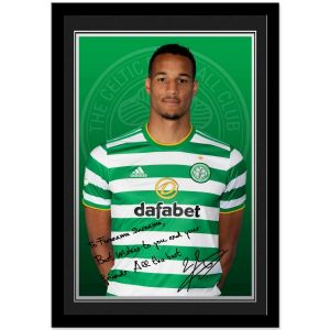 Celtic FC Jullien Autograph Photo Framed