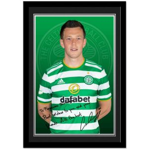 Celtic FC McGregor Autograph Photo Framed