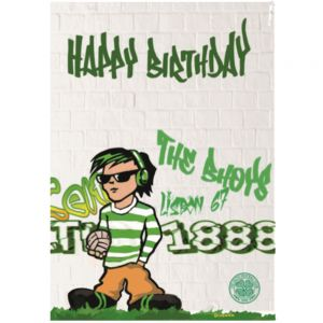 Celtic Graffiti Birthday Card
