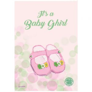 Celtic Baby Ghirl Booties Card