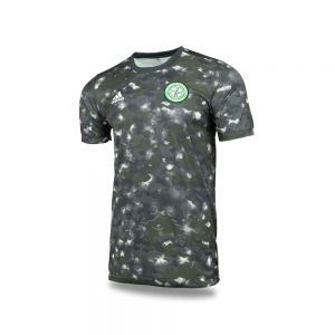 adidas Celtic 2021/22 Training Pre-match AOP Jersey - Black