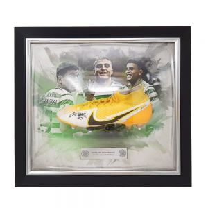 Celtic Signed Framed Elyounoussi Match Worn Football Boot