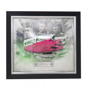Celtic Signed Framed Hayes Match Worn Football Boot