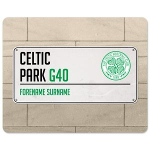 Celtic Personalised Street Sign Mouse Mat