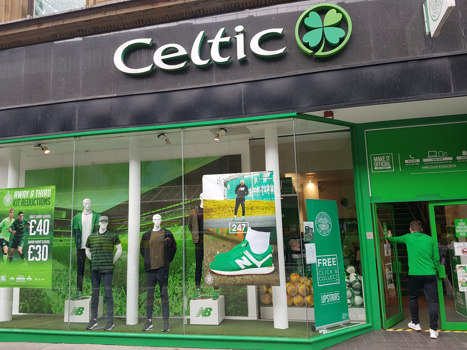 Celtic FC Shop on Argyle Street