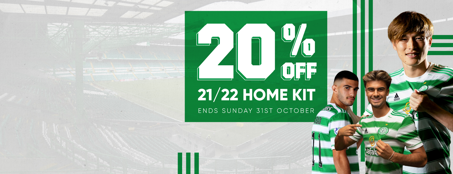 20% off Celtic FC 2021/22 Home Kit
