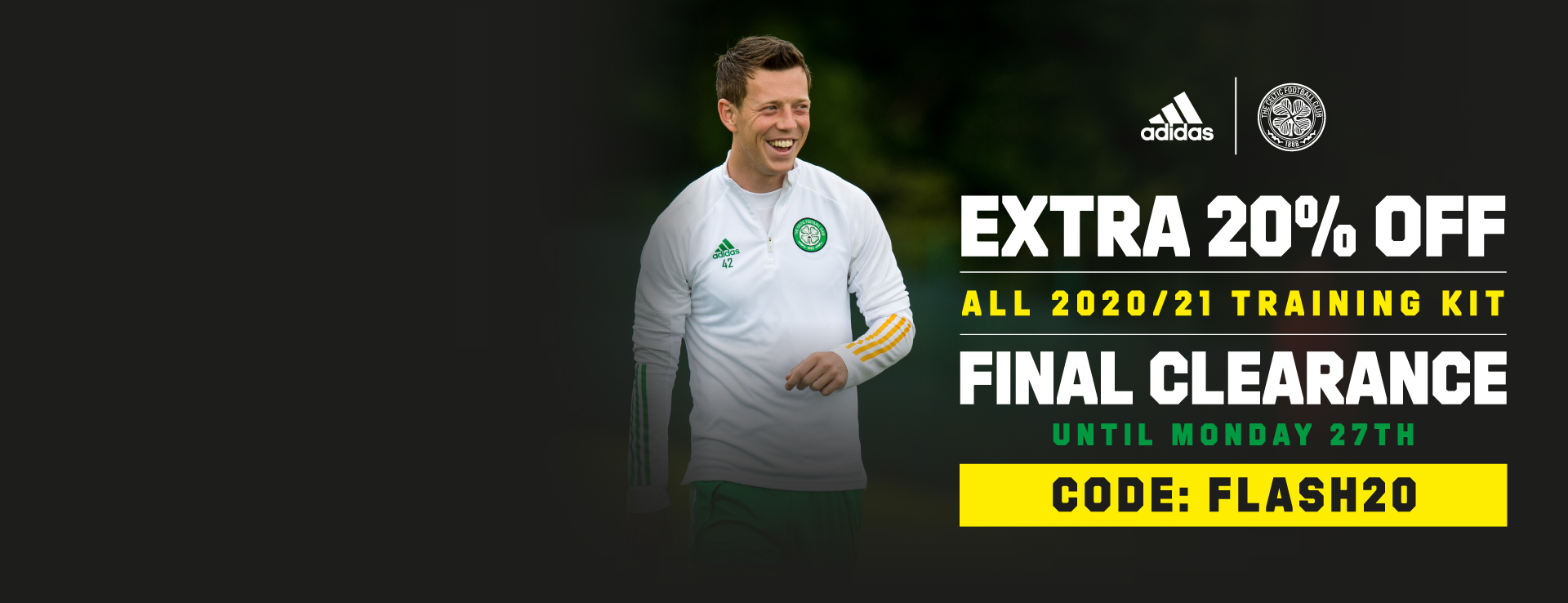 Celtic FC extra 20% off old season Training Kit