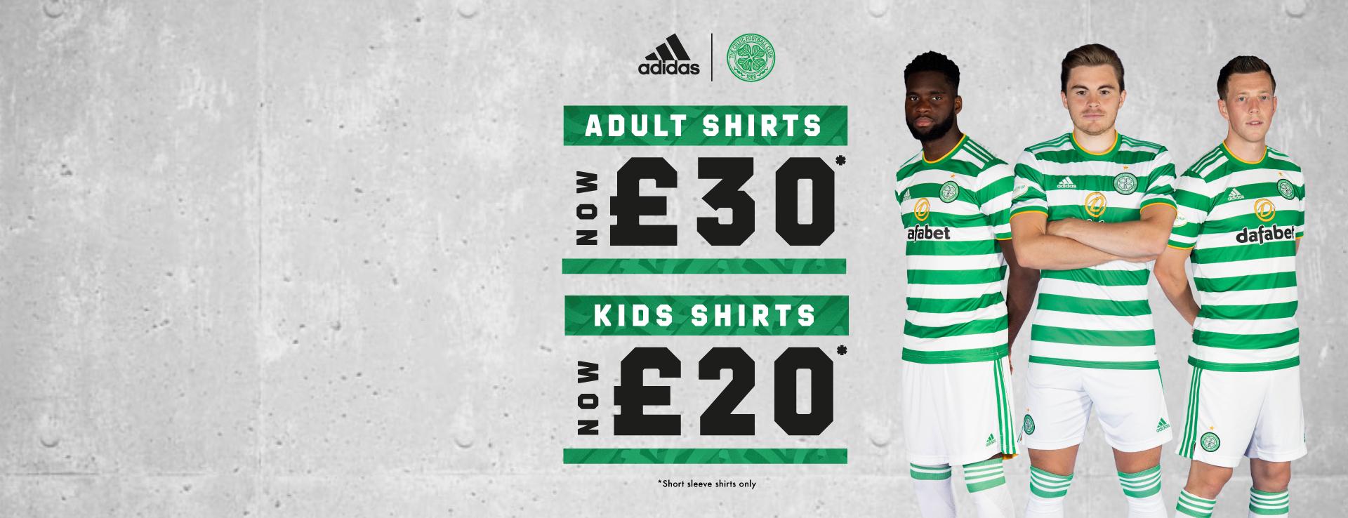 Celtic FC 2020/21 Home Kit Reductions
