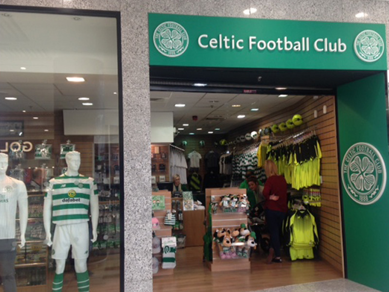 Celtic FC Shop in Braehead Shopping Centre